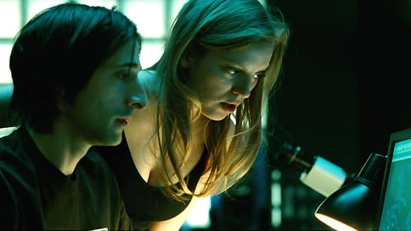 Sci-fi thriller Splice, starring Adrien Brody, left, and Sarah Polley was among the top Genie nominees announced Wednesday.