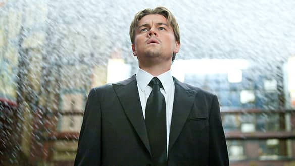Leonardo DiCaprio stars as a mind thief who steals secrets from the subconscious in Christopher Nolan's sci-fi action thriller Inception.