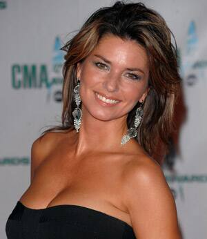 Shania Twain, shown arriving at the CMA Awards in Nashville in 2009, is engaged to  Swiss executive Frédéric Thiébaud.