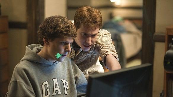 his friend Dustin Moskovitz in David Fincher's film The Social Network.