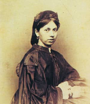 The former Sofia Andreevna Bers, an 18-year-old bride in 1862.