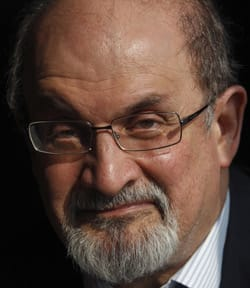 Author Salman Rushdie, shown in London Oct. 8, is at work on a memoir of his time in hiding under threat of death.