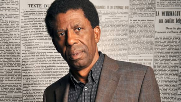 Canadian writer Dany Laferrière poses during the Monde des livres (World of books) meeting in Paris in 2009. He has just been nominated for a Governor General's Award for French-language fiction.