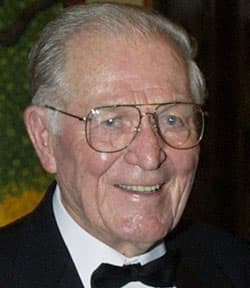 Maj. Richard Dick Winters is seen on Sept. 22, 2002 file photo. He was promoted to major after the Battle of Bastogne.