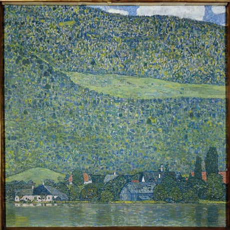 Gustav Klimt's Litzlberg am Attersee is expected to draw at least $25 million US at auction in New York.