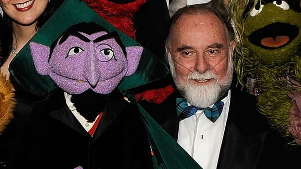 Jerry Nelson, seen posing with Sesame Street's Count von Count in 2010, gave up operating the puppet in 2004, but continued to voice the character until this year.