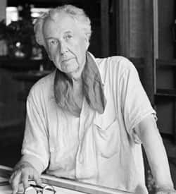 Architect Frank Lloyd Wright is seen in his studio and home in Talisien, Spring Green, Wis., on Aug. 16, 1938.