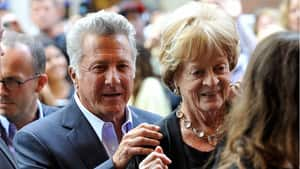 Quartet director Dustin Hoffman and actress Maggie Smith arrive at the film's premiere at the Toronto International Film Festival on Sept. 9, 2012.