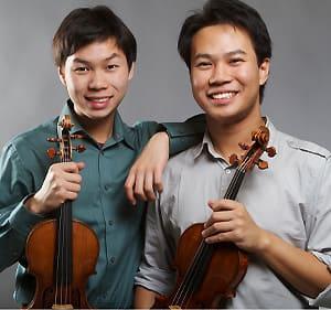 Siblings Timothy, left, and Nikki Chooi have won three-year loans of the 1729 Guarneri del Gesù and ca. 1700 Taft Stradivari violins, respectively.