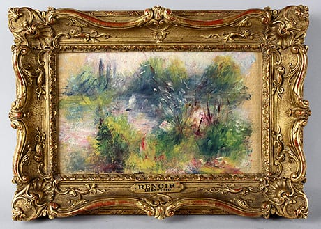 A Virginia woman bought this painting, apparently an original by French impressionist Pierre-Auguste Renoir, for $7 at a flea market. An auction house has halted its sale amid questions whether the work had been stolen from the Baltimore Museum of Art decades ago.