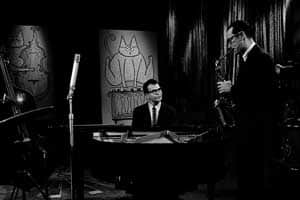 Dave Brubeck on CBC's Music Makers on June 19, 1958. Roy Martin/CBC Still Photo Collection.