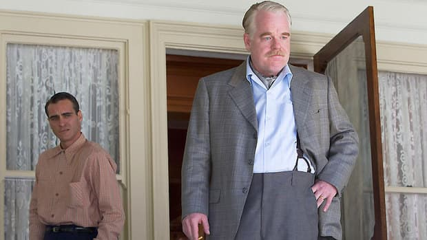 Joaquin Phoenix, left, and Philip Seymour Hoffman star in The Master, which was declared best picture by the Toronto Film Critics Association.