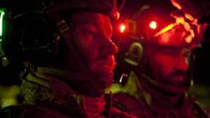 A scene from Zero Dark Thirty showing Navy SEALs operating at night.