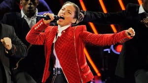 Alicia Keys, seen performing at the People's Choice Awards earlier this month, said she wants to bridge the gap between a smartphone for work and one for play.
