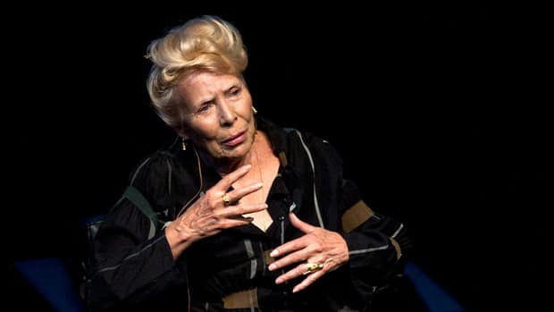 Joni mitchell speaks at the isabel bader theatre as part of luminato