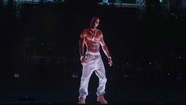 A lifelike digital projection of deceased rapper Tupac Shakur performed alongside Snoop Dogg and Dr. Dre at the 2012 Coachella Valley Music & Arts Festival in Indio, Calif.