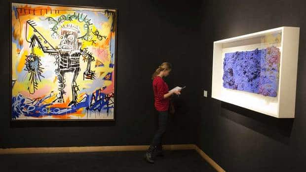 Untitled 1981, the painting by artist Jean-Michel Basquiat see at left, sold for $26.4 million US, exceeding the previous artist's record of $20.1 million.