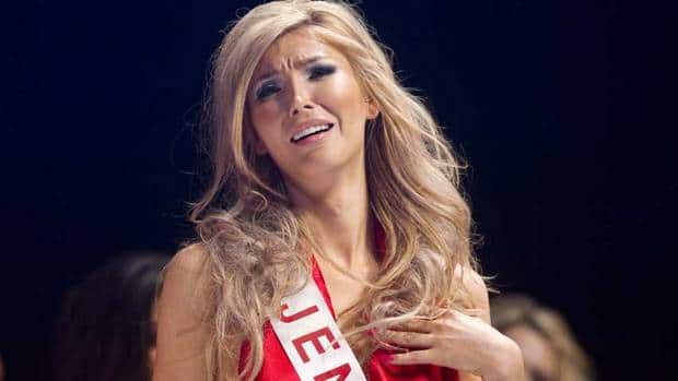 Transgender beauty queen Jenna Talackova is shown in the Miss Universe Canada pageant in May 2012. She says she has embraced her role as a touchstone for gender equality.