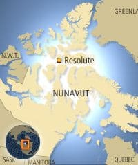 Resolute Bay is one of five Inuit communities in Nunavut where  opposition to the seismic testing plan was widespread.