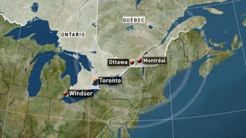 The 2010 earthquake hit at 1:41 p.m. ET south of Echo Lake, Que., 60 kilometres north of Ottawa near the Ontario border, and was felt across southern and eastern Ontario and western Quebec.