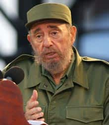 Cuban President Fidel Castro, shown giving a speech May 20, 2005, in Havana.