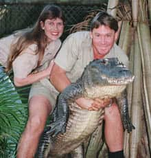 Steve Irwin, pictured with his American wife, Terri, in 1999 at his Australia Zoo. (AP/Russell McPhedran)