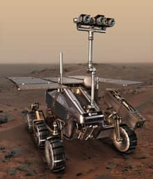 A computer rendition of the ExoMars rover, which the European Space Agency wanted the Canadian space industry to build for a planned mission to Mars by 2015.