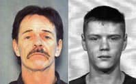 Jessie Blue West, 54, and his son Dustin Moir, 22, have been charged with first-degree murder.