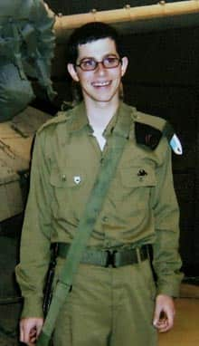 An undated handout photo shows Israeli soldier Gilad Shalit, who was captured in 2006 while serving at an Israeli border base.
