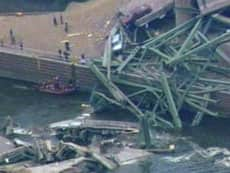 Tonnes of concrete plunged into the Mississippi River during the collapse in Minneapolis on Wednesday.