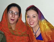 Selena Paskalidis (right) has since converted to Islam after marrying Sadaqat Hussain.