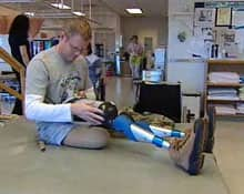 Master Cpl. Paul Franklin, shown here at a rehabilitation session in 2006, lost both his legs in a suicide bombing in Afghanistan in January of that year.