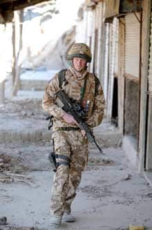 Prince Harry patrols the Afghan town of Garmisir on Jan. 2.