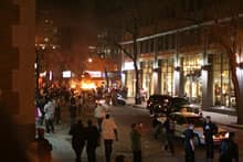 Several cop cars were torched as game night celebrations turned ugly in Montreal.
