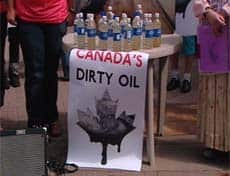 Investors at a petroleum symposium in Calgary Monday were challenged to taste water taken from Lake Athabasca in northern Alberta.