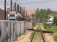 Calgary police are investigating eight explosive devices found on light rail and freight train tracks.
