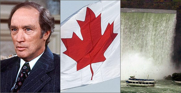 Pierre Trudeau, the maple leaf and Niagara Falls all define Canada, according to the poll.