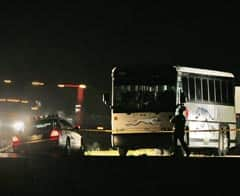 The suspect remained on the bus for several hours and was arrested around 1:30 a.m., RCMP said.