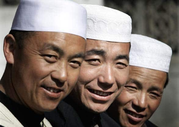 Chinese Muslims at a mosque in Linxia, a city known as the 'small Mecca of China.' Islamic cultural influences can be traced back nearly 1,000 years in China. In the far northwest of the country, some Muslims known as Uighurs favour greater independence. China accuses such groups of links to al-Qaeda.