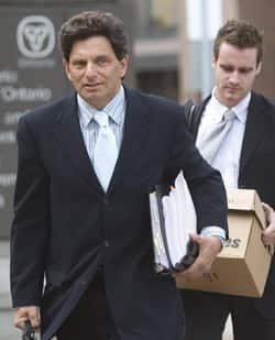 Khawaja's lawyer, Lawrence Greenspon, arrives at an Ottawa courthouse Aug. 19, 2008 during Khawaja's trial that ended in his conviction on terrorism charges. Greenspon will be before the Supreme Court on June 11.