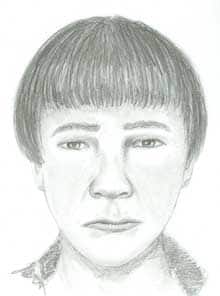 Investigators released this sketch of a second man they want to question.