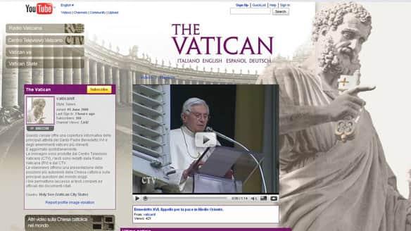 papa Benedict XVI na YouTube