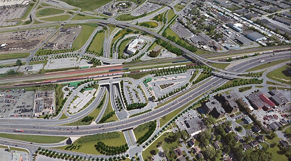 The new configuration of the Dorval Circle will include eight overpasses and roads to give drivers direct access from Highways 20 and 520 and the airport.