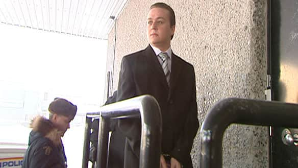 Emrah Bulatci enters the Yellowknife courthouse on Tuesday morning for a voir dire hearing.