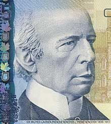 Could former prime minister Wilfrid Laurier, whose picture appears on the $5 bill, ever imagine a stack of money $50 trillion high? (iStockphoto)