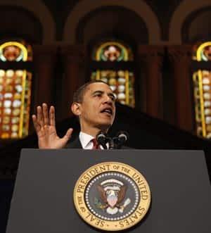 President Obama in Georgetowns Gaston Hall