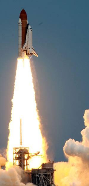 space shuttle launch. Space Shuttle Atlantis lifts