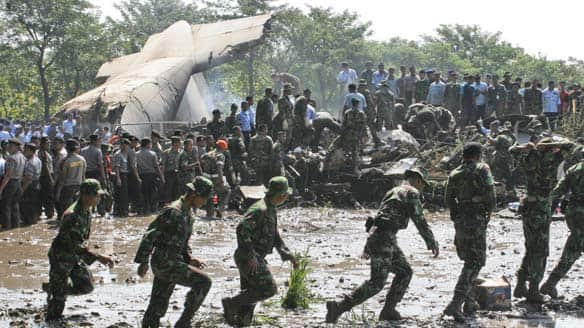 military plane crash in