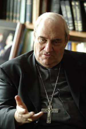 Cardinal Jean-Claude Turcotte, the archbishop of Montreal, is shown during an interview in his office in Montreal on March 15, 2005.