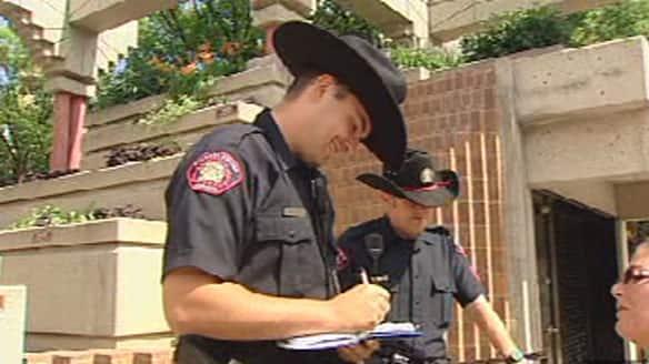 Calgary Police Don Stetsons Year Round Calgary Cbc News